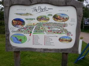findhorn kaart the park